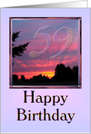 Happy 59th Birthday Sister-in-law card