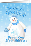 Christmas Season's Greeting From New Address card