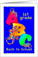 Back to School - 1st Grade card