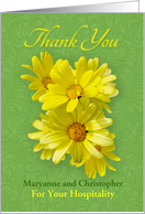 Thank For Your Hospitality, Fresh Yellow Daisies card