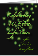 40th Kidney Transplant Anniversary Party Invitations card