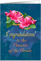 Congratulations to Parents of the Bride card