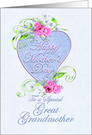 Great Grandmother Mother's Day Pink and Blue Flowers card