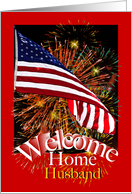 Husband Welcome Home From Military Service card