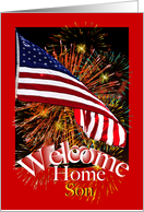 Son Welcome Home From Military Service card