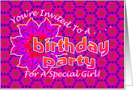Teen Birthday Party Invitation for Girl card