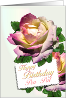 Pen Pal Birthday Roses card