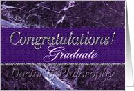 Ph.D. Graduate Congratulations Purple card