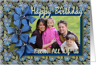 From All of Us Birthday Photo Card Forget-me-nots card
