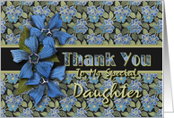 Daughter Thank You Forget-me-nots card