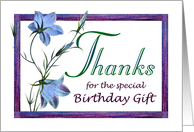Birthday Gift Thanks Bluebell Flowers card