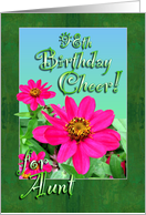 Aunt 98th Birthday Pink Zinnia Garden card