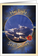 Loss of Mother - Her Light Still Shines card
