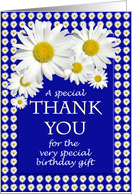 Birthday Gift Thank You Daisies card