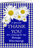 House Warming Thank You Daisies card