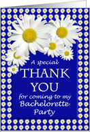 Bachelorette Party Thank You Daisies card