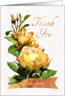 Thank You Daughter Golden Rose card