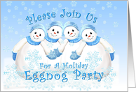 Holiday Eggnog Party Snowmen Invitation card