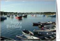 Happy Birthday on the Water, Fishing Boats & Tenders card