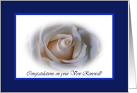 Vow Renewal - Friend - White Rose card