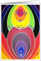 Birthday New Years Day, Rainbow Colors card