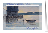 Father's Day Step Father Blue Boat card