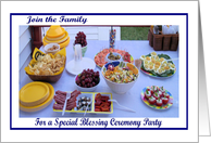 Blessing Ceremony Party Deli Food card