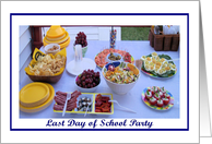 Last Day of School Party Deli Food card