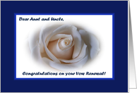 Vow Renewal Aunt and Uncle, White Rose card
