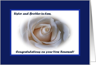 Vow Renewal Sister and Brother-in-law, White Rose card