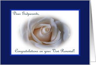 Vow Renewal Godparents, White Rose card