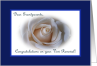 Vow Renewal Grandparents, White Rose card
