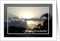 Sympathy Great Grandmother Silvery Sunset card