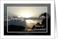 Sympathy Loss of Grandchild Silvery Sunset card