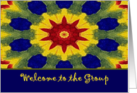 Welcome to the Group, Colorful Rose Window Painting card