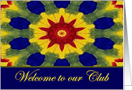 Welcome to our Club, Colorful Rose Window Painting card