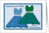 Congratulations Wedding for Godparents, Dresses and Daisies card