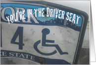 New Driver Humor, Bent License Plate card