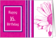 Pink and Purple 16th birthday card