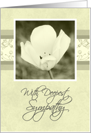 White Flower Business Sympathy Card
