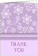 Purple Flowers Thank You for Coming to my Bachelorette Party Card