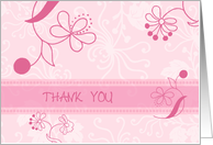 Pink Flowers Thank You for Coming to my Bachelorette Party Card