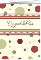Red Dots Business Employee Anniversary Card