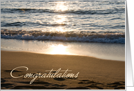 Waves Congratulations on Engagement Card