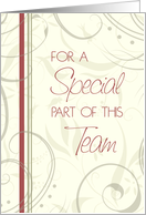 Beige and Red Floral Employee Anniversary Card