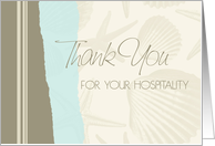 Shells Turquoise Hospitality Thank You Card
