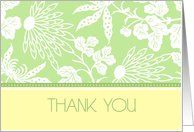 Thank You for Attending Party, Green Floral card