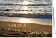 Wave at Sunset Vow Renewal Invitation Card