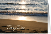 Wave at Sunset From Daughter Dad Happy Father's Day Card