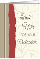 Red and Beige Employee Anniversary Card